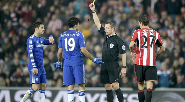 Diego Costa, second from left, was the centre of attentionon Wearside despite not finding the net