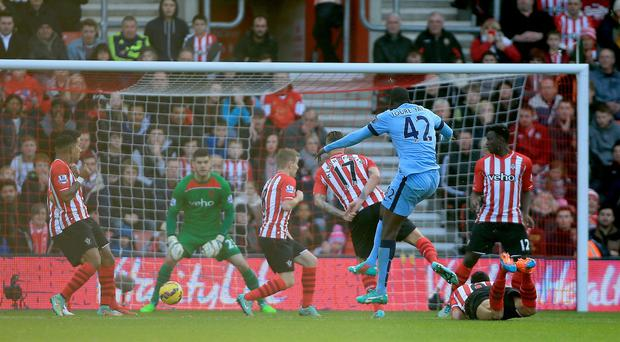 Yaya Toure sets Manchester City on their way to a comfortable win