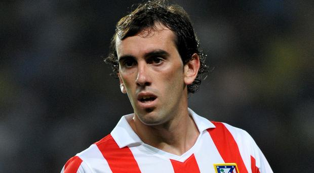 Atletico Madrid centre-back Diego Godin has scored two goals in 13 league starts for Diego Simeone's side this season