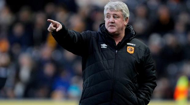 Hull manager Steve Bruce, pictured, has denied having a bust-up with Hatem Ben Arfa