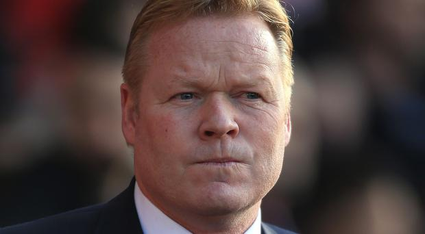 Ronald Koeman, pictured, believes too much has been said about his relationship with Manchester United counterpart Louis van Gaal