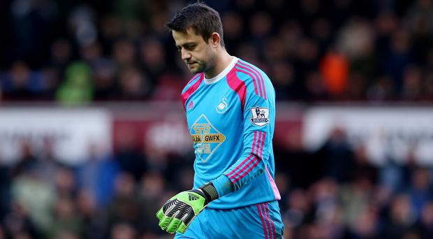 Swansea are appealing against the red card shown to Lukasz Fabianski at West Ham