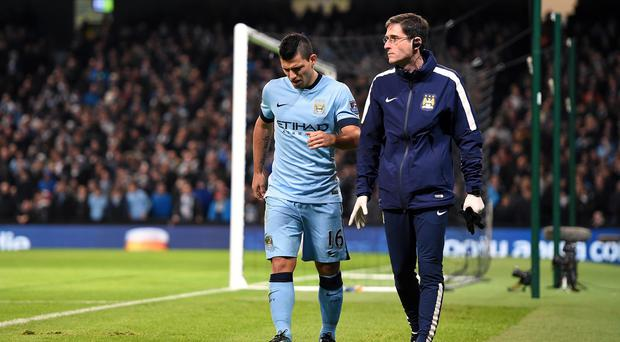 Sergio Aguero could face an extended spell on the sidelines