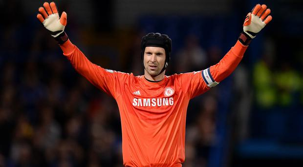 Petr Cech made his first Premier League start of the season against Hull