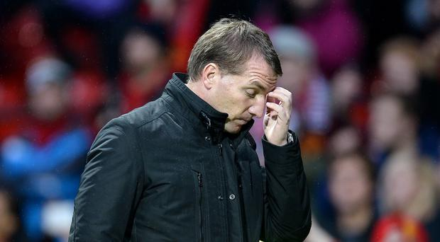 Brendan Rodgers' Liverpool are 18 points behind Premier League leaders Chelsea