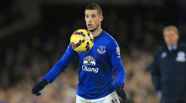 Everton forward Kevin Mirallas must wait to discover the extent of his ankle injury