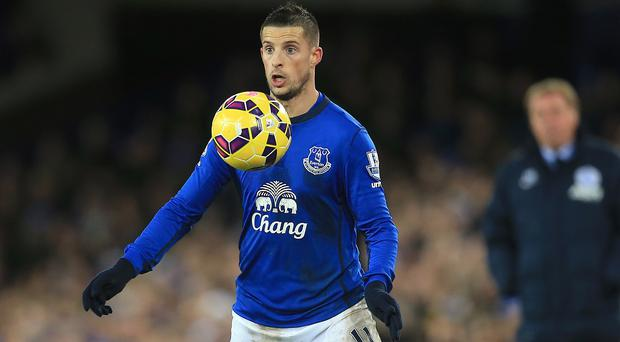 Everton forward Kevin Mirallas' ankle injury is not as bad as first feared