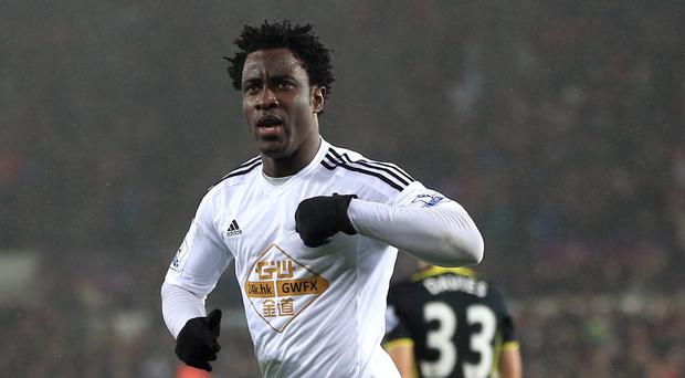 Swansea's Wilfried Bony, pictured, is integral to boss Garry Monk's plans