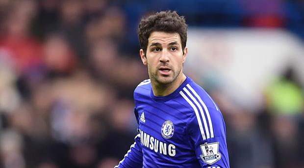 Cesc Fabregas insists there was contact in the tackle which saw him booked for a dive against Southampton