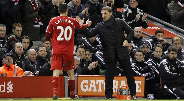 Adam Lallana, left, is finding his best form for his new club
