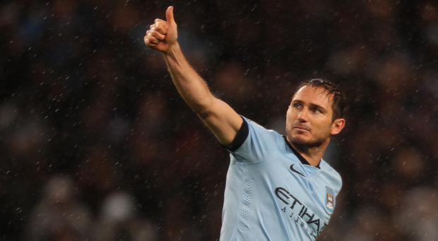 Frank Lampard, pictured, made headlines on and off the field for Manchester City on New Year's Day