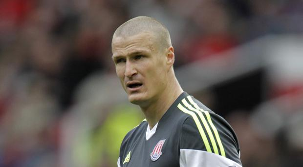 Robert Huth has only played one Barclays Premier League match for Stoke this season