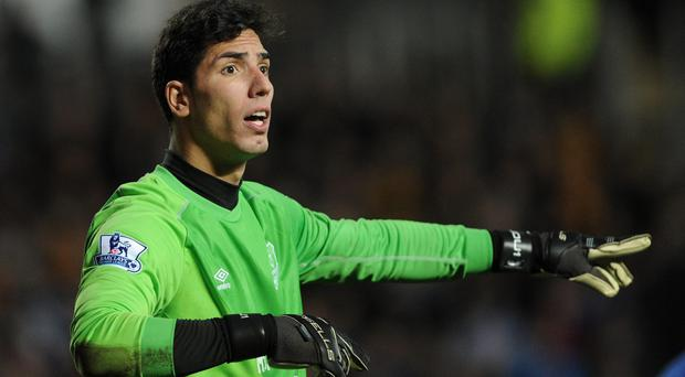 Filling in: Joel Robles has taken over from injured Tim Howard