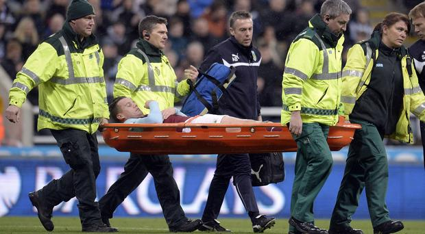 Kevin Long ruptured his cruciate ligament during Burnley's 3-3 draw against Newcastle