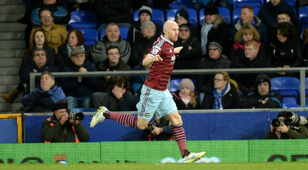 James Collins is looking for a West Ham response against Swansea