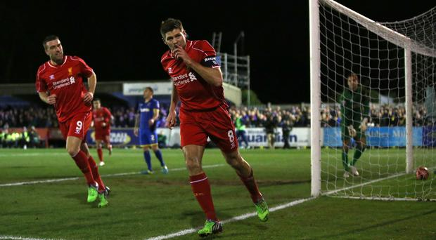 Steven Gerrard is not heading to America for a holiday