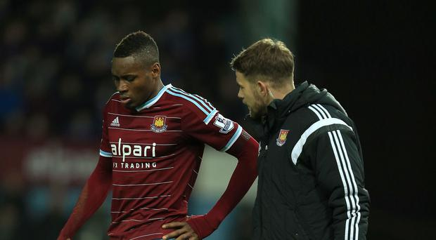 Diafra Sakho, left, has been troubled by a back problem