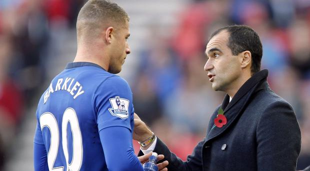 Everton manager Roberto Martinez, right, insists Ross Barkley's form is the least of his worries