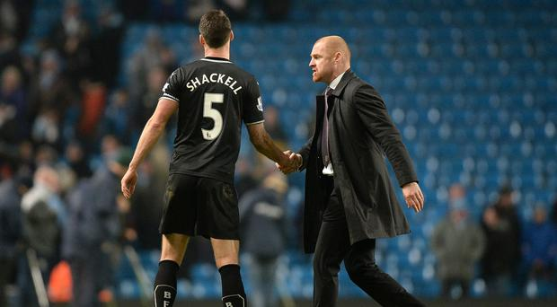 Sean Dyche hopes to welcome Jason Shackell back into the Burnley squad