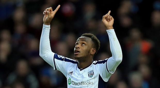 Tony Pulis wants Saido Berahino, pictured, to lead his West Brom attack