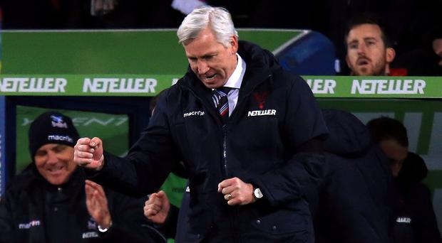 Alan Pardew's first league game in charge ended in a Crystal Palace victory