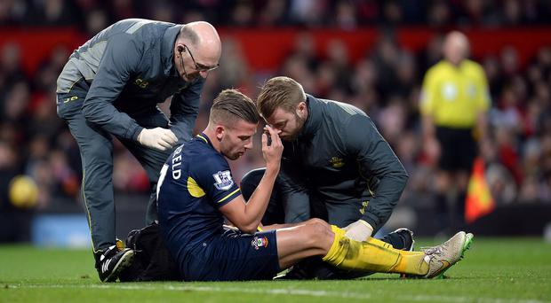 Southampton defender Toby Alderweireld faces a month out with a hamstring complaint