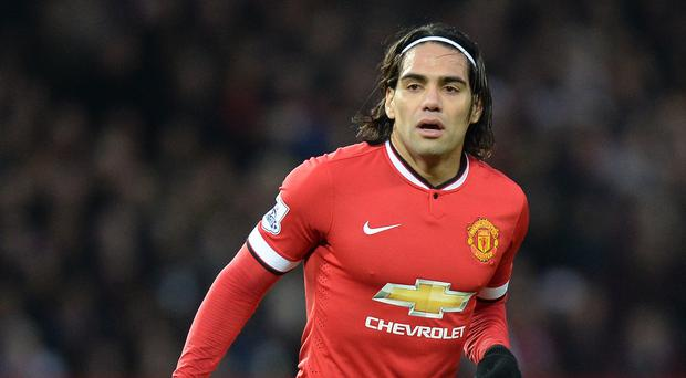 Radamel Falcao has scored three goals in 13 appearances for Manchester United