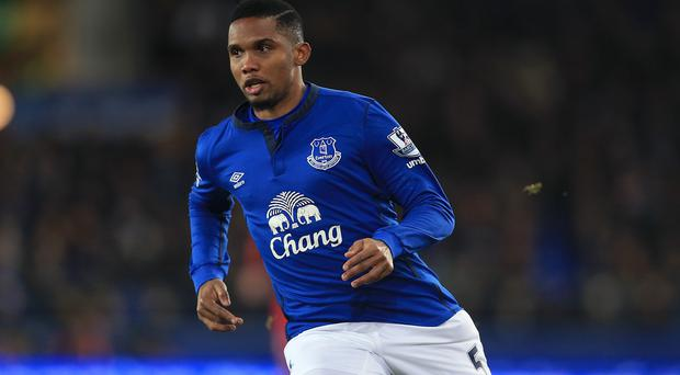 Samuel Eto'o could be about to leave Everton