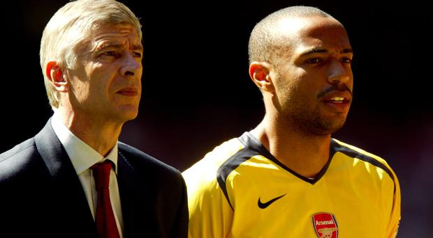 Thierry Henry, right, has stuck up for Arsene Wenger, left