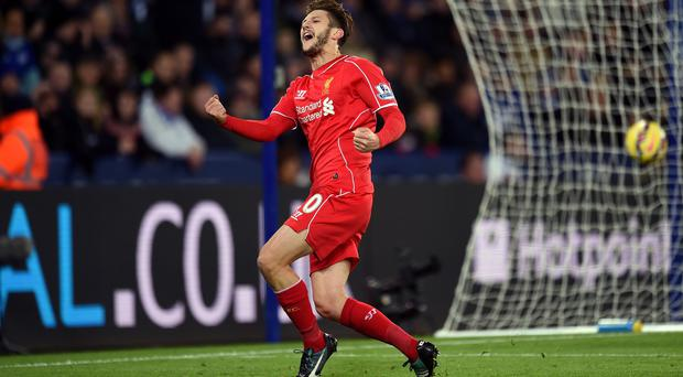 Liverpool midfielder Adam Lallana has returned to training ahead of schedule