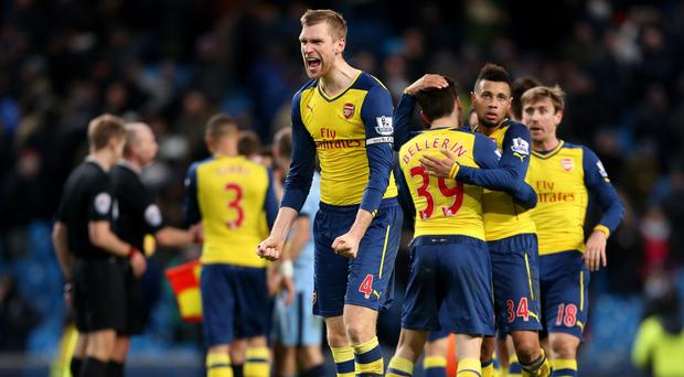 Arsenal put on an impressive show at the Etihad
