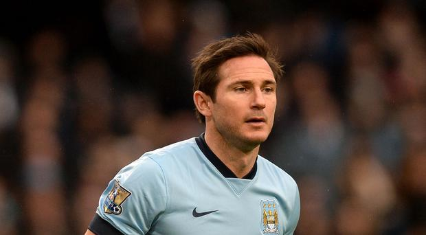Frank Lampard lasted just 20 minutes of Manchester City's friendly in Abu Dhabi