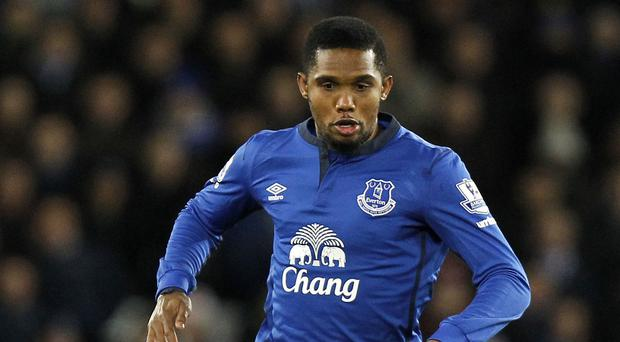 Samuel Eto'o has scored four goals in 20 appearances for Everton