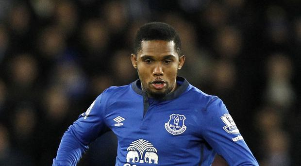 Samuel Eto'o is poised to complete his move from Everton to Sampdoria