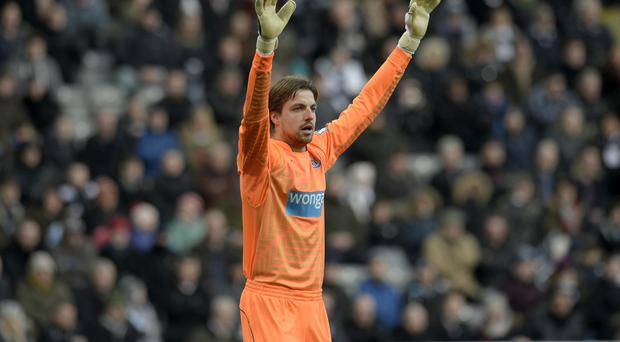 Newcastle keeper Tim Krul is looking forward to the Manchester United clash
