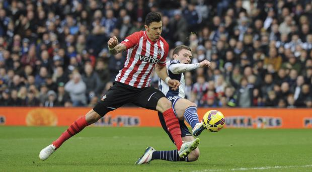 Southampton's Jose Fonte, left, wants Southampton to quickly regain their form