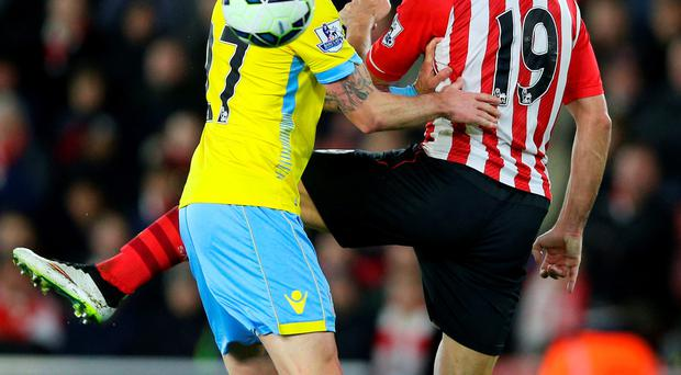 It's behind you: Damien Delaney and Graziano Pelle