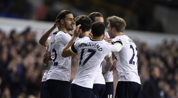 Nacer Chadli, left, opened the scoring at White Hart Lane