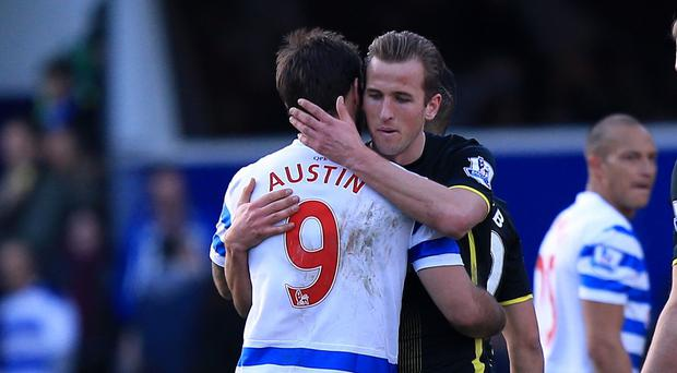 QPR's Charlie Austin, left, and Tottenham's Harry Kane, right, have scored a combined 31 goals in the Barclays Premier League this season