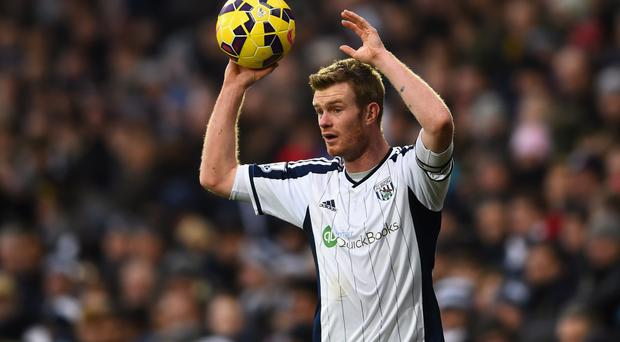 Hot water: Chris Brunt is facing a ban after being charged with abusing an official after West Brom's FA Cup defeat to Aston Villa
