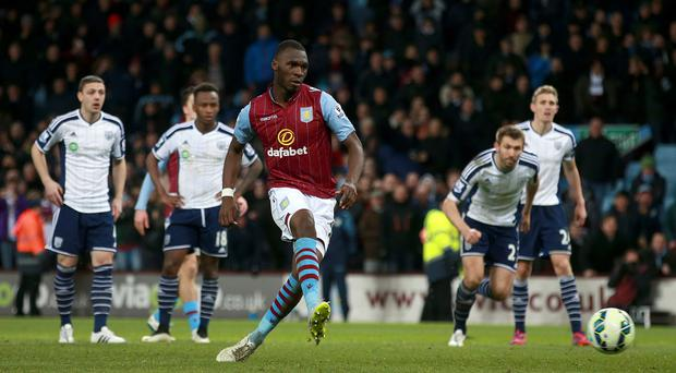 Aston Villa's Christian Benteke, centre, could return against Sunderland at the weekend