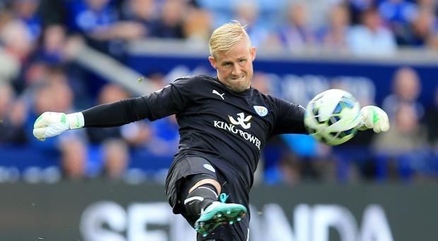 Goalkeeper Kasper Schmeichel is back from injury for Leicester
