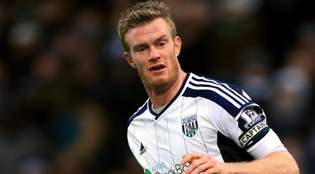 Chris Brunt allegedly verbally abused a match official following West Brom's FA Cup exit