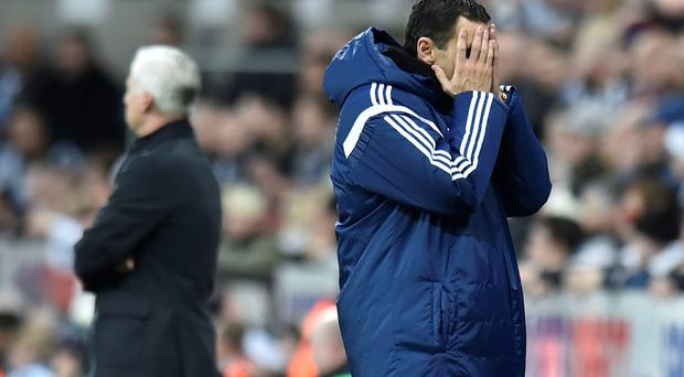 Gone: Gus Poyet was relieved of his role as Sunderland boss