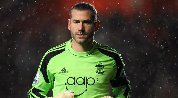 Kelvin Davis was called into action for Southampton off the bench on Saturday
