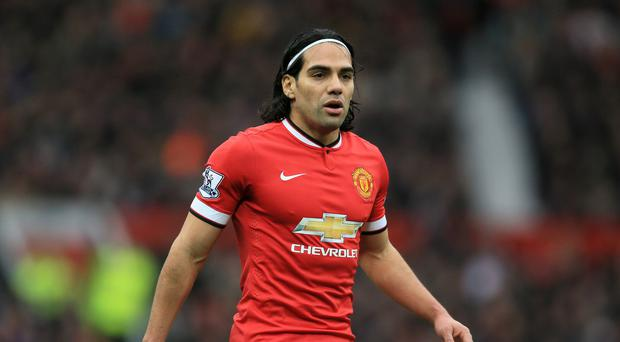 Radamel Falcao, pictured, says he has not given up hope of extending his stay at Old Trafford