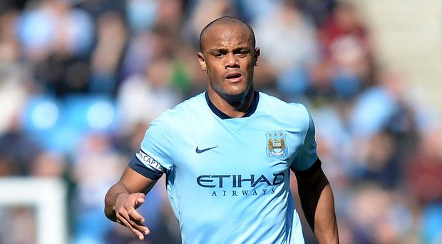 Vincent Kompany was sent off during Belgium's Euro 2016 qualifier against Israel on Tuesday