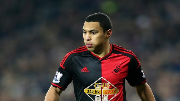 Swansea's Jefferson Montero suffered a muscle strain during the international break