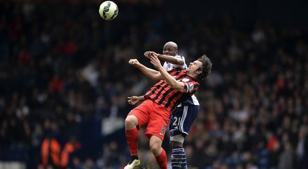 Youssouf Mulumbu saw red for West Brom