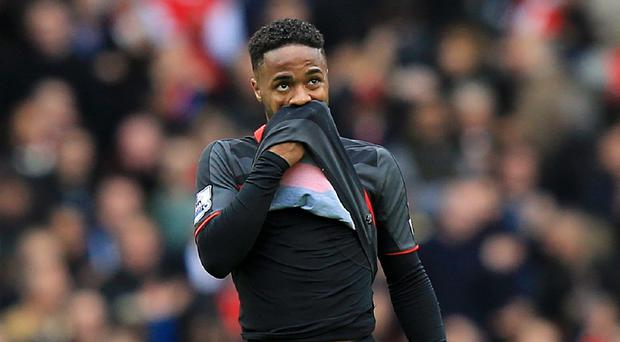 Raheem Sterling was on the losing side at Arsenal